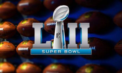 Super Bowl 52 - foto: Adrian Curiel, logo: NFL