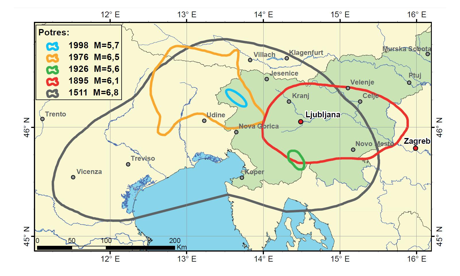 potres Idrija 1511, idrijski potres
