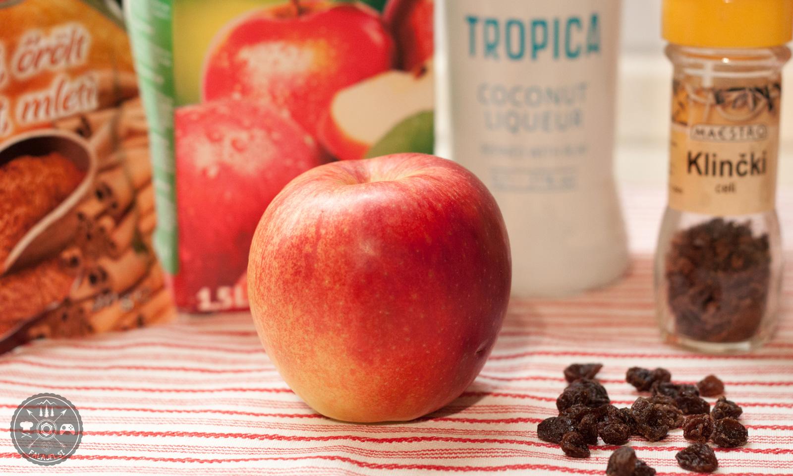 apfelstrudel, jabolčni zavitek, štrudl, koktejl, cocktail, recept