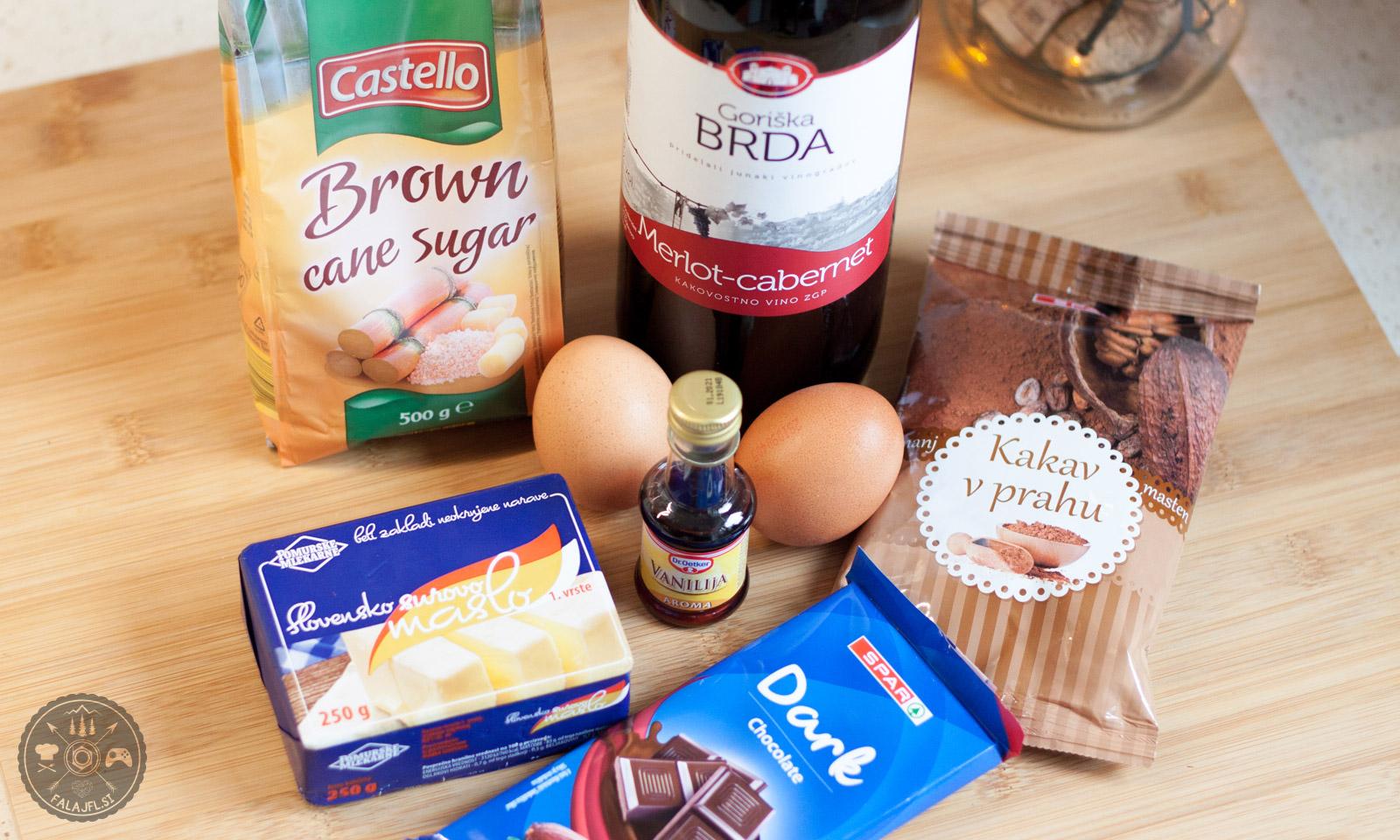 Sestavine za čokoladni brownie