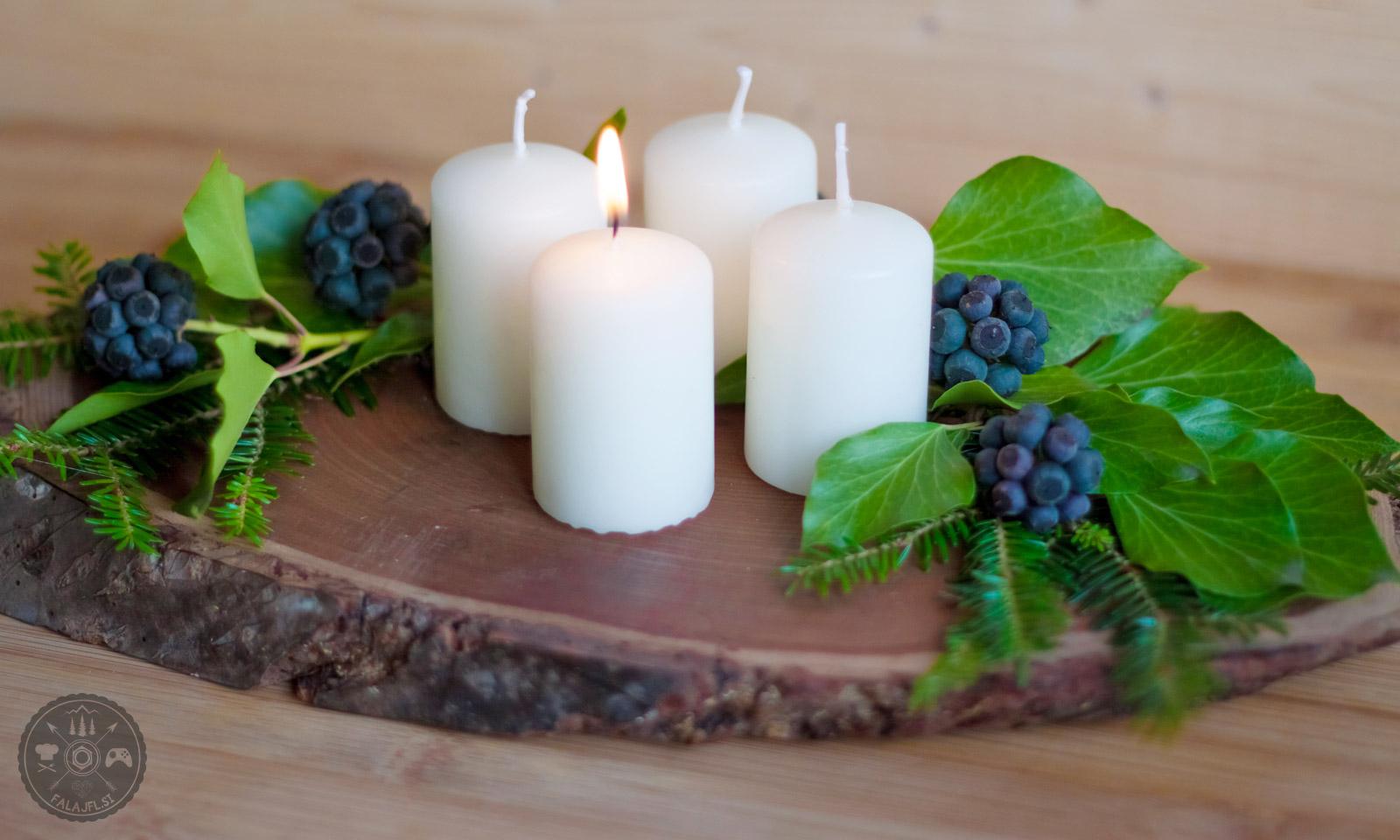 Sveče prižigamo vsako adventno nedeljo