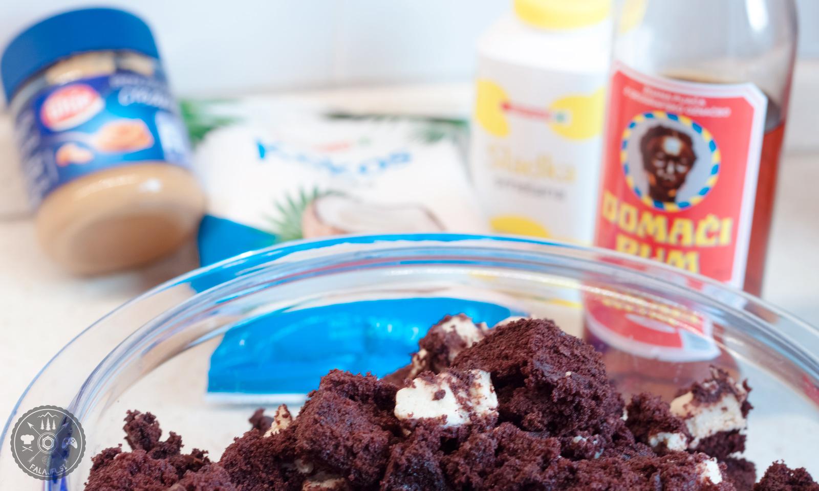 ježki, kokos, čokolada, sladica, recept