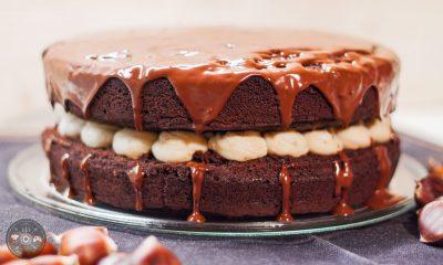 kostanj, torta, čokolada, jesen