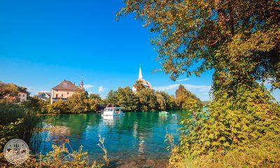 Maria Wörth, Vrbsko jezero, Otok, Koroška, Avstijska Koroška, Celovec, jezero