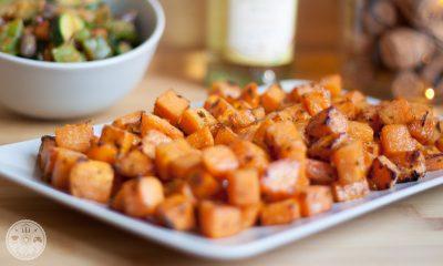 pečen sladki krompir z zelenjavo