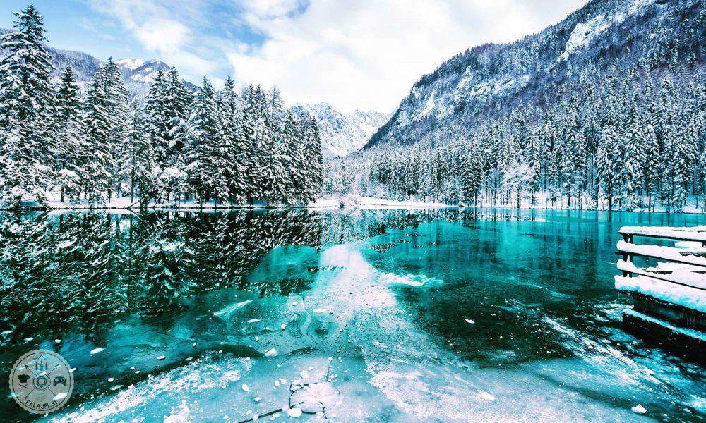 Zima 2018, Falajfl, ujeto v objektiv, sneg, sneženje, planšarsko jezero, jezersko